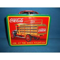 Lonchera De Coca Cola Tipo Vintage Nueva Producto Oficial