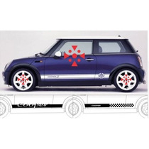 Sticker Vinil Tuning Franja Lateral Declas Mini Cooper
