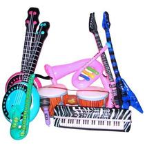 Instrumentos Musicales Inflables Globos Fiesta Juguete Niños