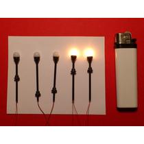 5 Lámparas Ovales Escala H0 1:100 Maquetas Arquitectura Tren