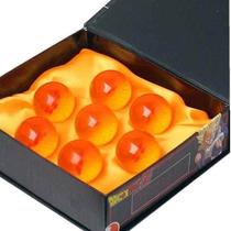 Siete Mini Esferas De Dragon Ball Con Caja Exhibidor 3.4 Cm