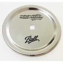 Mason Jar Tapa Con Perforación Para Boca Regular Caja De 12