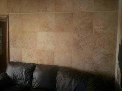 Piso de marmol travertino rojo a solo 199 00 m2 40x40 for Marmol travertino precio m2