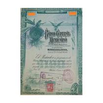 Bono - Blueberrie - Banco Central Mexicano, $100, 1908.