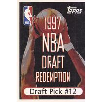 1997-98 Topps Draft Redemption Draft Pick 12