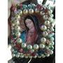 Recuerdo Escapulario Bordado Con Perlas,virgen De Guadalupe.