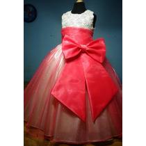 Vestido De Paje Pajecita Para Niña Falda Color Coral