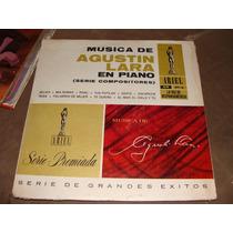 Acetato Musica De Agustin Lara En Piano