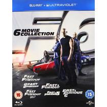 Rapidos Y Furiosos Coleccion 1- 6 De Peliculas Blu-ray + Uv