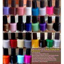 Elige Tú Set De 4 Tintas Estampado De Uñas Placas