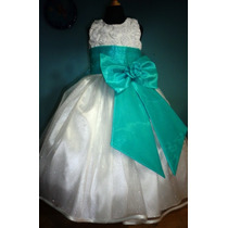 Vestido De Paje Pajecita Para Niña Tipo Tutu Color Aqua