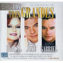 Rocio Durcal / Jose Jose / Juan Gabriel / 3 Cd + 1 Dvd
