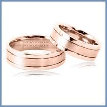 Argollas De Matrimonio Mod. Aura En Oro Rosa 10k Solido