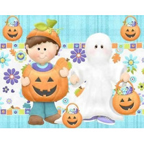 Mega Kit Imprimible Halloween Invitaciones , Marcos De Fotos