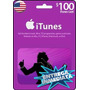 Tarjeta Gift Card Itunes De 100 Usd Para Iphone Ipad Ipod