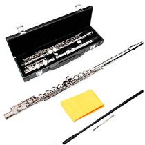 Flauta Transversal Plata Traversa Estuche Orificio Cerrado