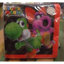 Aa Mario Bross Servilleta Con 16 Piezas Desechable
