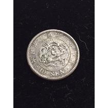 Japón 10 Sen Año 38 (1905) Plata Ley 0.900 18mm 2.6g
