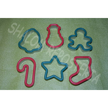 *kit 6 Cortadores Galleta Navidad Royal Icing Fondant*