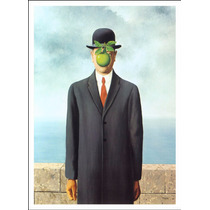 Lienzo Tela, El Hijo Del Hombre, René Magritte, 54x74 Cm