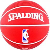 Balon De Basquetbol Spalding Nba Logoman Red Hule #7