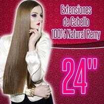 Extensiones De Cabello 100% Natural Clipon 24 Pulgadas Remy