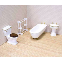 Juego De Muebles Para Baño P/ Casa Muñecas Melissa & D 1:12