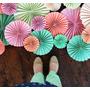 Rosetas De Papel, Flores De Papel Plisado 30cm