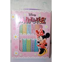 12 Libros De Carton Minnie De Disney-con Estuche- Nuevo
