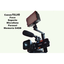 Canon Fullhd 64gb Disco Duro Incluye Parasol Y Bateria Extra