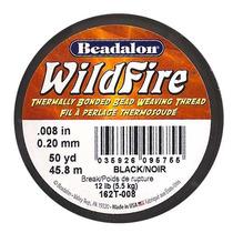 Hilo Termoadherente P/cuentas Wildfire, 2 Mm, Negro (5 M)