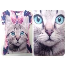 Playera Camiseta Sublimada Gato Totoro Frida Pusheen Weed