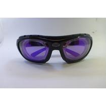 Lentes Goggles Miopia Polarized Violeta No Graduados
