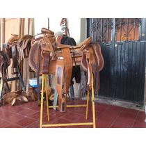 Silla De Montar Charra, Tipo Cacahuate, Ribeteada