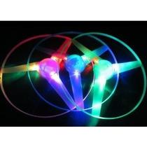 Luz Verde Rosado Azul Led Volando Juguete Disc 3 Piezas