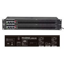 Ecualizador Gráfico Dual De 31 Bandas Phonic Geq-3102f