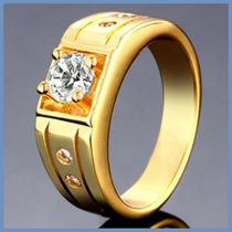 Anillo Grueso Mod. Lancelot Oro 10k Para Caballero Hombre