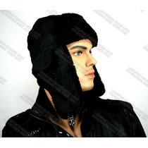 Gorras Rusas Ushanka Esquimal Ruso Totalmente Negro Liso