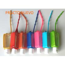 100 Botellas Con Gel Antibacterial 30ml Funda Silicona Color