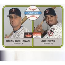 2001 Fleer Platinum Rookies Brian Buchanan Luis Rivas Twins