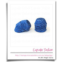 220 Capacillos Grecas Azules Mini No.5 Trufas Cakepops #1106