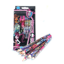 Paquete Escolar Monster High Colores Lapiz Pluma Sello Sobre