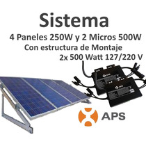 Panel Solar 280 Kwh Bimestral Interconectado A Cfe