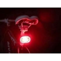Lámpara Luz 9 Led Trasera Bicicleta Soporte Casco Mochila Df