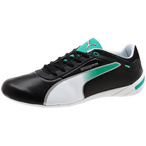 Tenis Puma Touring Cat Mercedes Amg Casual Negro Blanco Gym