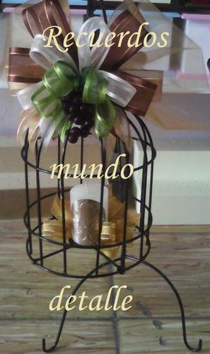 Jaulas decorativas vintage centros de mesa boda bautizo xv - Precios de centros de mesa para boda ...