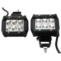 Tm Luces Tms 4 X 18w 1260lm Cree Spot Led Work Light Bar Off
