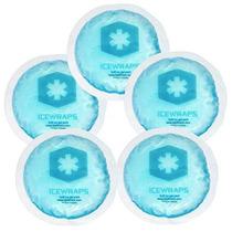 Icewraps Ronda Gel Azul Bolsas De Hielo Con Soporte De Algod