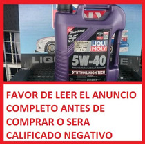 Aceite 100% Sintético Liqui Moly Synthoil High Tech 5w-40 5l