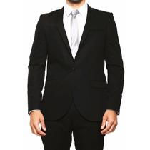 Saco Lob Negro Formal Slim Fit (nuevo) Talla: X1